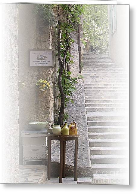 Provence Village Greeting Cards - Atelier Saint Michel Greeting Card by Maureen J Haldeman