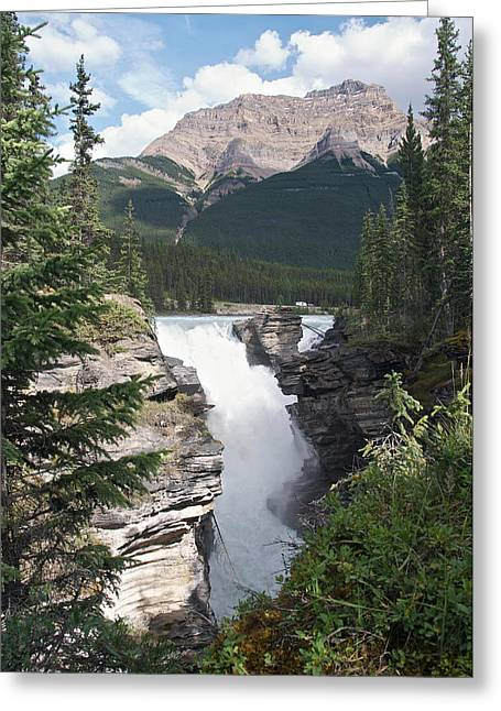 Jasper Greeting Cards - Athabasca Falls Greeting Card by David Kleinsasser