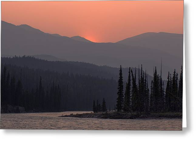 Layers Greeting Cards - Athabasca River Layers Greeting Card by Cale Best
