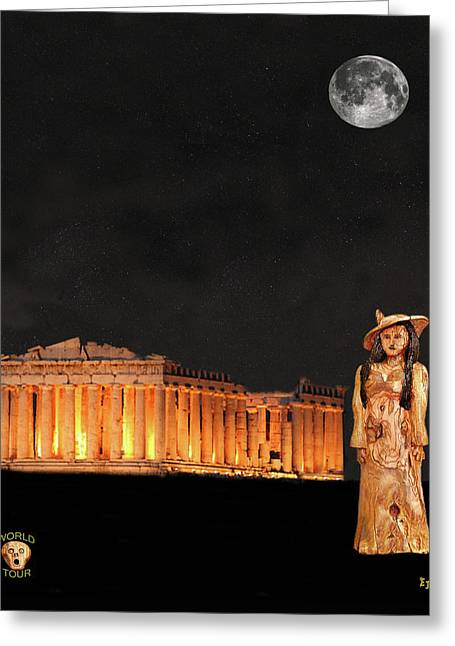 Acroplolis Greeting Cards - Athens Fashion Greeting Card by Eric Kempson