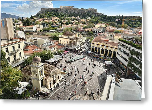 Athens, Greece Greeting Card by Edwin Verin
