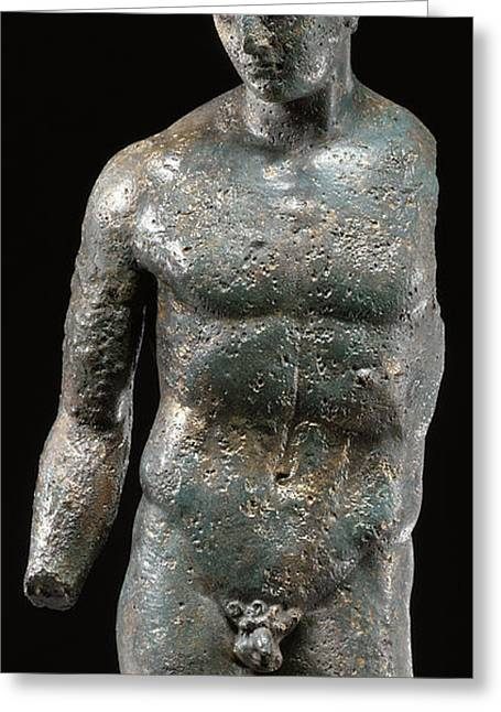 Sculptures Sculptures Greeting Cards - Athlete Greeting Card by Roman School