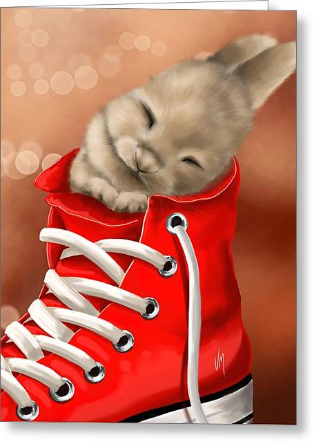 Athletic Rest Greeting Card by Veronica Minozzi