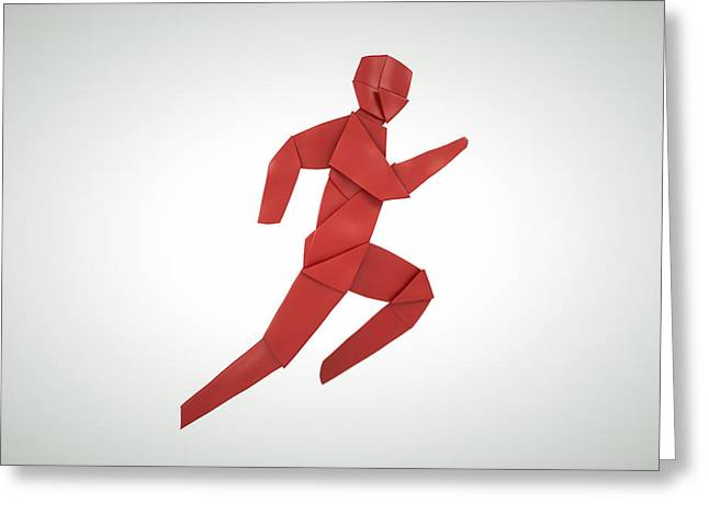 Sport Sculptures Greeting Cards - Athletics  Greeting Card by Richard Seanor