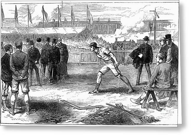 Put Greeting Cards - Athletics: Shot Put, 1875 Greeting Card by Granger