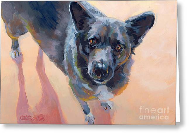 Australian Cattle Dog Greeting Cards - Atira Greeting Card by Kimberly Santini