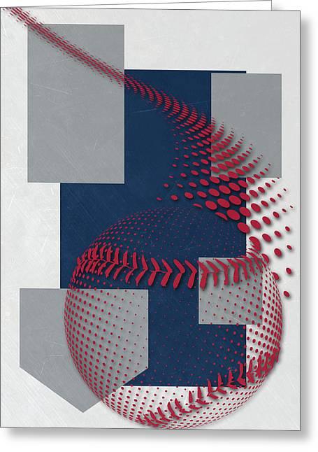 Atlanta Braves Art Greeting Card by Joe Hamilton