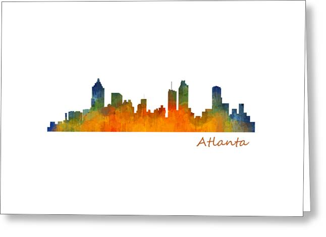Atlanta City Skyline Hq V1 Greeting Card by HQ Photo