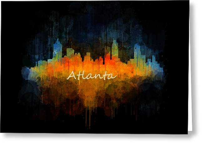 Famous Artist Greeting Cards - Atlanta City Skyline UHq v4 Greeting Card by HQ Photo