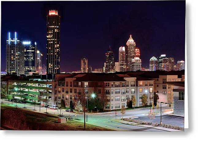 Southern Illinois Greeting Cards - Atlanta from Above Greeting Card by Frozen in Time Fine Art Photography