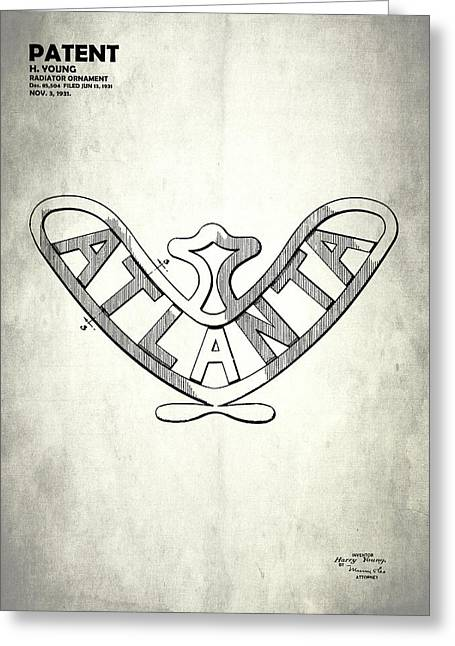 Vintage Hood Ornament Greeting Cards - Atlanta Radiator Ornament 1931 Greeting Card by Mark Rogan