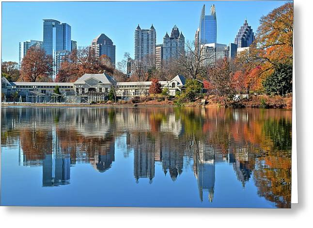 Atlanta Reflected Greeting Card by Frozen in Time Fine Art Photography