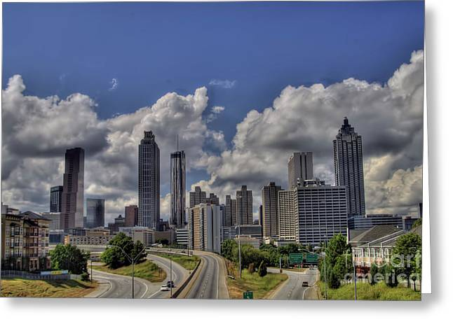 Photographers Duluth Greeting Cards - Atlanta Skyline Greeting Card by Corky Willis Atlanta Photography