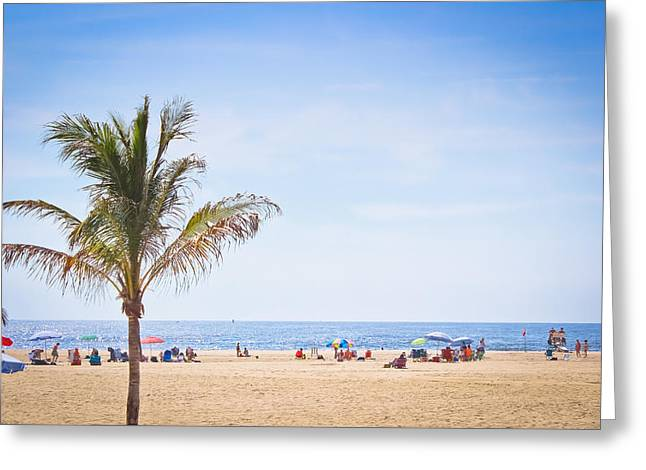 Swimmers Greeting Cards - Atlantic Coast Beachgoers Greeting Card by Colleen Kammerer