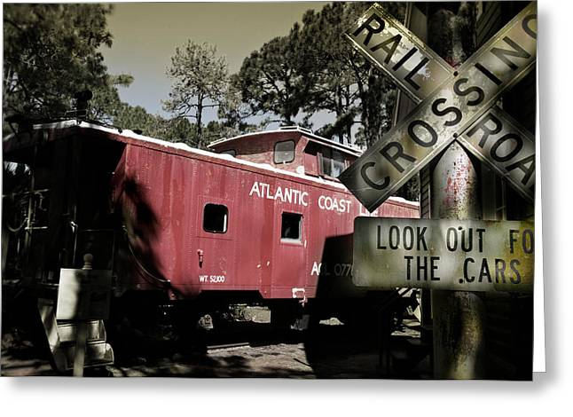 Old Relics Greeting Cards - Atlantic Coast  Line Railroad Carriage Greeting Card by Mal Bray
