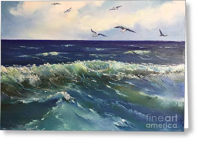 Atlantic In Summer Greeting Card by Viktoriya Sirris