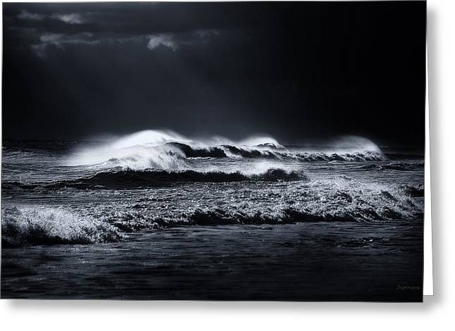 Atlantic Digital Greeting Cards - Atlantic Ocean Greeting Card by Dapixara Art