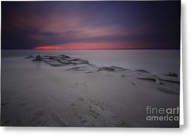 Sunset Seascape Greeting Cards - Atlantic Pulse Greeting Card by Marco Crupi