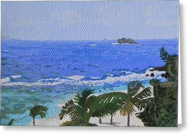 Atlantic Side Of St. Maarten Greeting Card by Margaret Brooks