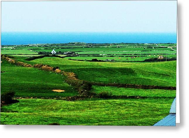 Pastureland Greeting Cards - Atlantic View Doolin Ireland Greeting Card by Teresa Mucha