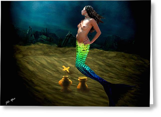 Tray Mead Greeting Cards - Atlantis Gold Greeting Card by Tray Mead