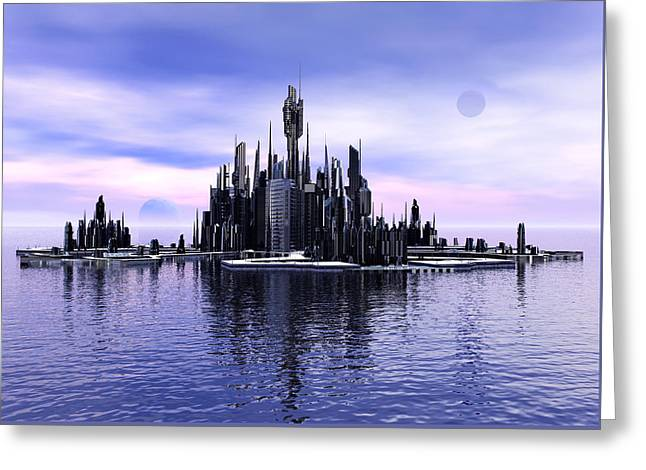 Atlantis Reflections Greeting Card by Joseph Soiza