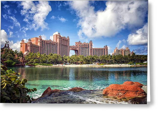 Atlantis Greeting Cards - Atlantis Resort - Paradise Island -  - Bahamas Greeting Card by Jon Berghoff