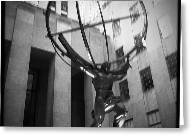 5th Ave Greeting Cards - Atlas Shrugs Greeting Card by James Hose Jr