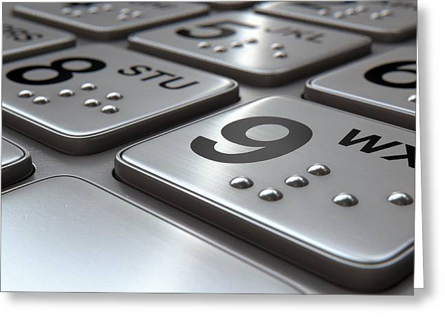 Account Greeting Cards - ATM Keypad Closeup Greeting Card by Allan Swart
