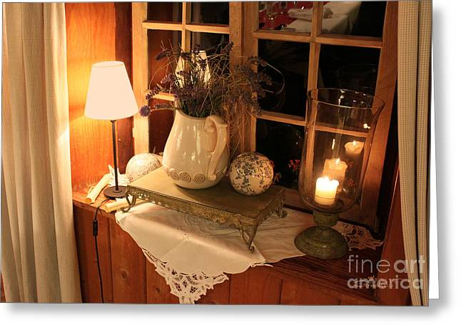 Table Cloth Greeting Cards - Atmospheric Still Life Greeting Card by Jutta Maria Pusl