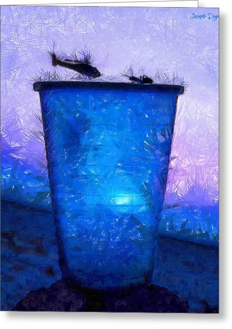 Atomic Ant - Da Greeting Card by Leonardo Digenio