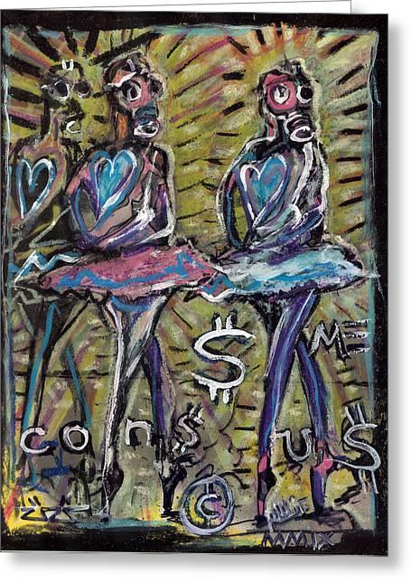 Atomic Ballet Greeting Card by Robert Wolverton Jr