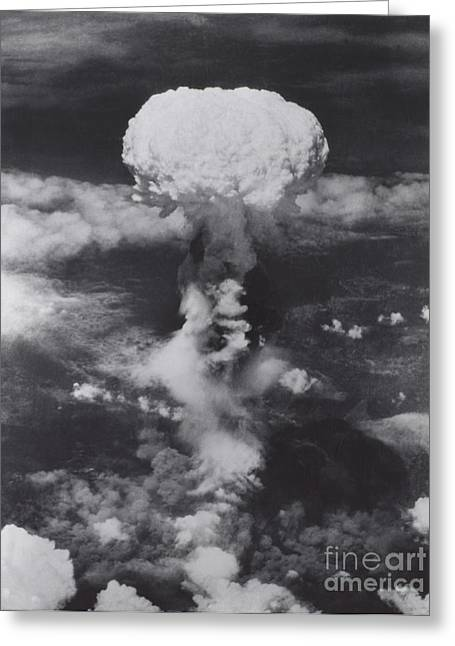 Atomic Bomb, Hiroshima, 1945 Greeting Card by Science Source