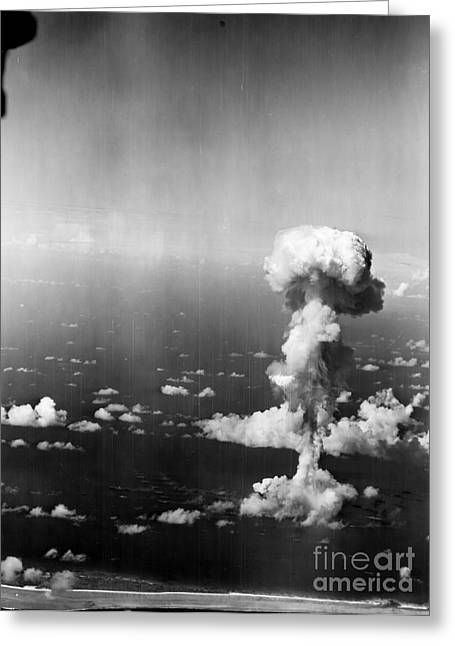 Nuclear Warfare Greeting Cards - Atomic Bomb Test, 1946 Greeting Card by Granger