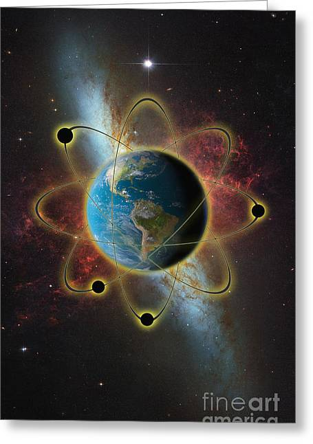 Humankind Greeting Cards - Atomic Earth Greeting Card by George Mattei