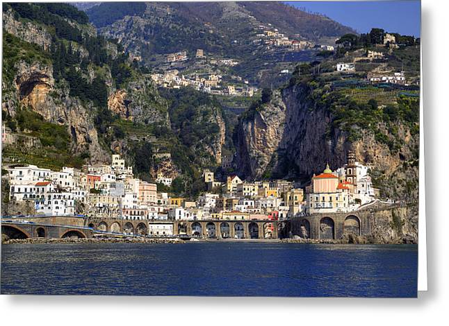 Med Greeting Cards - Atrani - Amalfi Coast Greeting Card by Joana Kruse