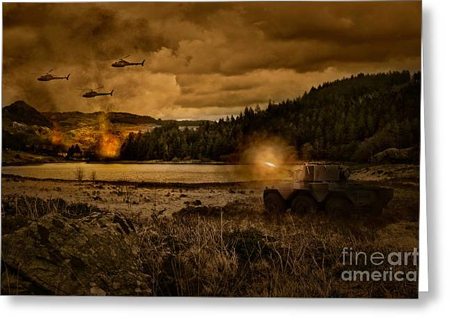 Attack At Nightfall Greeting Card by Amanda And Christopher Elwell