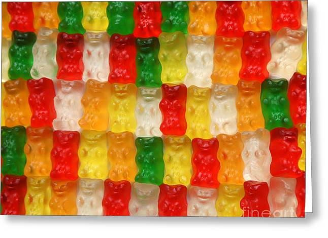 Gummi Candy Greeting Cards - Attention clear gummy iam not you Greeting Card by Brian Flannery