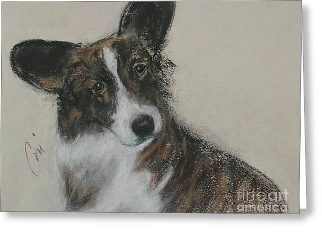 Puppies Pastels Greeting Cards - Attention Getter Greeting Card by Cori Solomon