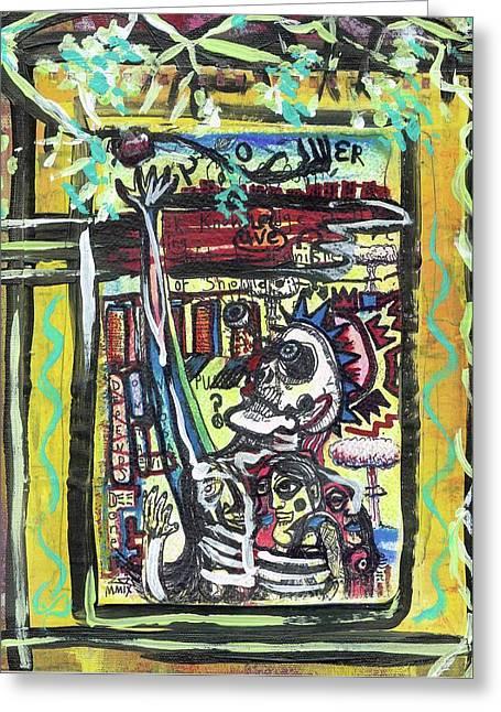 Fruit Tree Art Greeting Cards - Attic Window Greeting Card by Robert Wolverton Jr