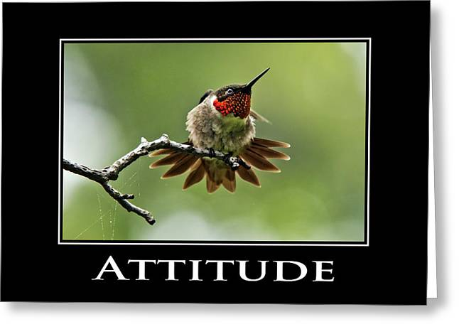 Attitude Inspirational Motivational Poster Art Greeting Card by Christina Rollo