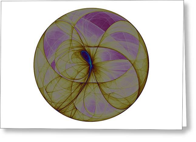 Fractal Orbs Digital Greeting Cards - Attractor No. 52 Greeting Card by Mark Eggleston