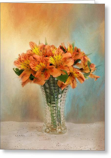 Kim Photographs Greeting Cards - Autumn Alstroemeria Flowers Greeting Card by Kim Hojnacki