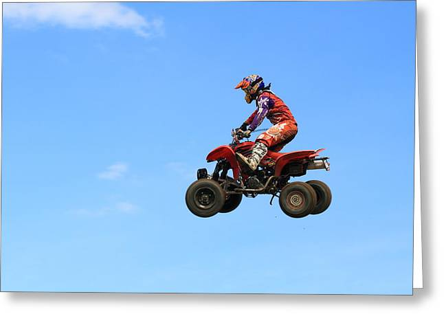 Popular Art Greeting Cards - Atv  Greeting Card by Geraldine Scull