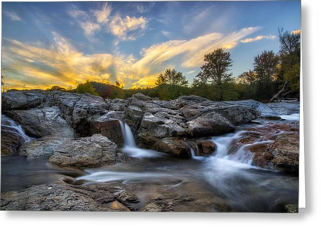Colorful Cloud Formations Greeting Cards - Auasble River Sunset 2 Greeting Card by Mark Papke