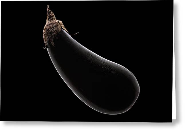 Aubergine Still Life Greeting Card by Johan Swanepoel