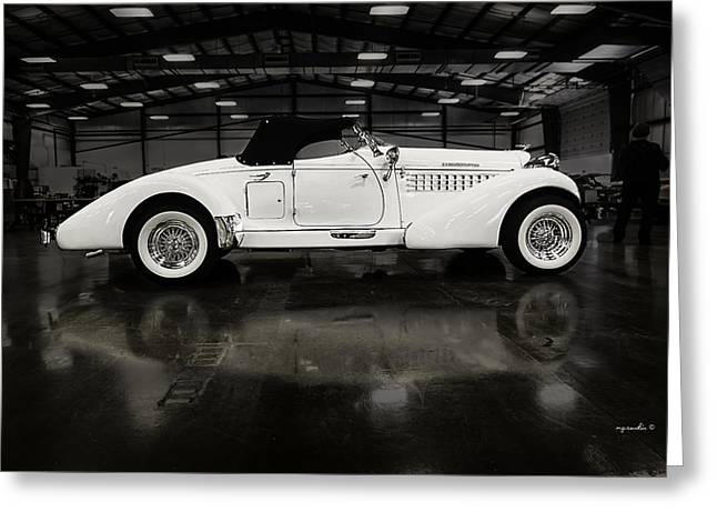 Modestly Greeting Cards - Auburn Supercharged Bobtail Greeting Card by Michael Rankin