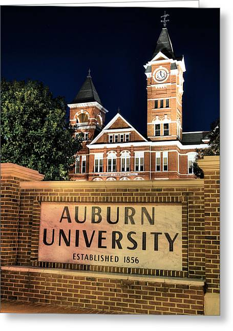 Alabama Greeting Cards - Auburn University Greeting Card by JC Findley