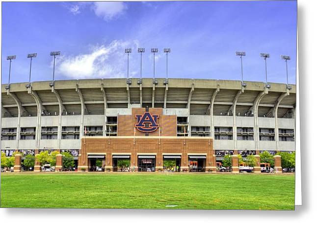 Sec Greeting Cards - Auburn University Jordan Hare Stadium Greeting Card by JC Findley