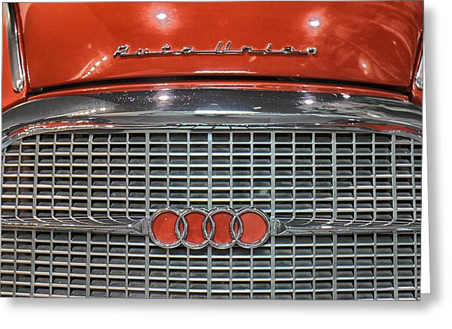 Car Grill Greeting Cards - Audi 1000S Grill Greeting Card by Lauri Novak